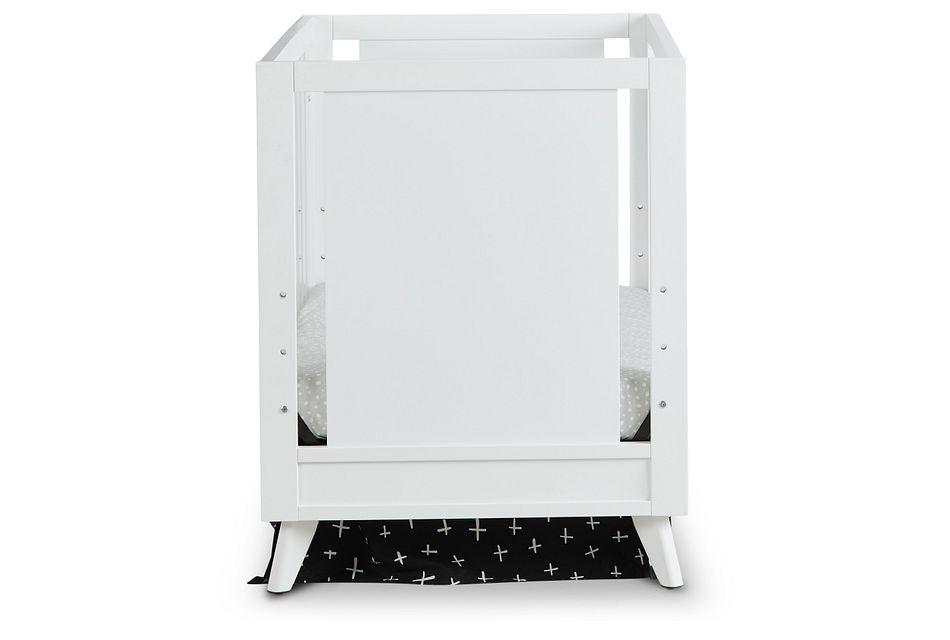Kayson White Acrylic 3-in-1 Crib
