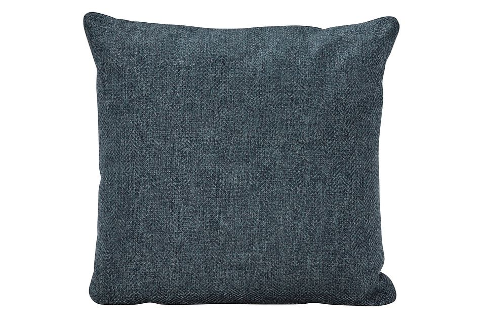Avery Dark Blue Fabric Square Accent Pillow