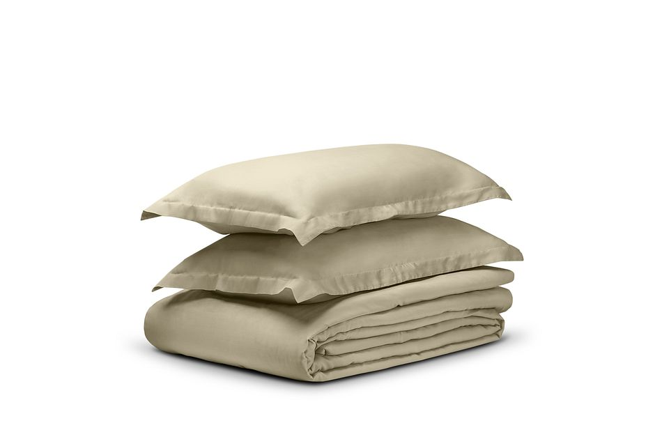 Tencel Beige 300 Thread Duvet Set