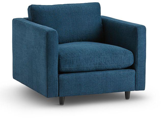 Simone Dark Blue Fabric Chair (1)
