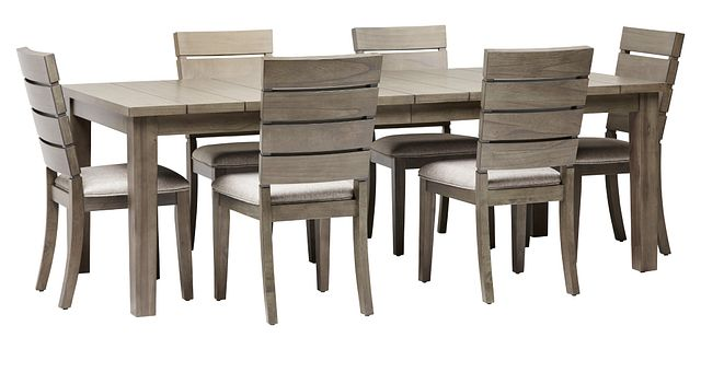 Sienna Gray Rect Table & 4 Slat Chairs (1)