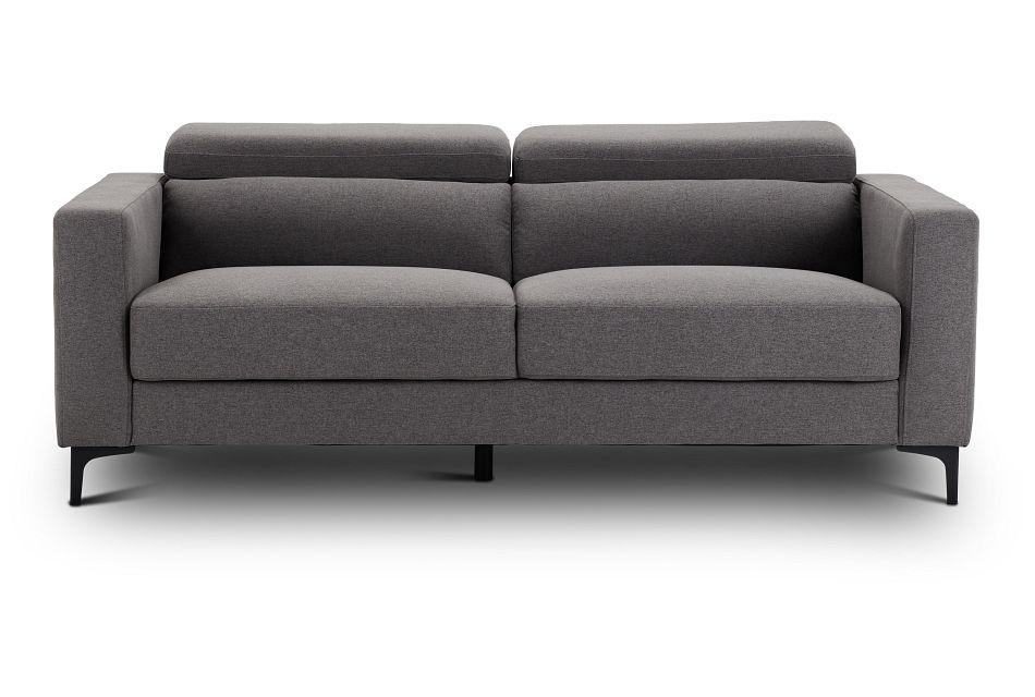 Trenton Dark Gray Fabric Sofa,  (1)