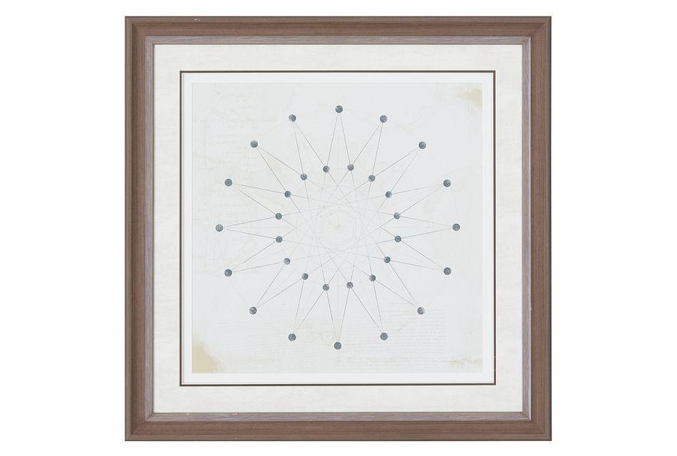 Sphere Beige Framed Wall Art