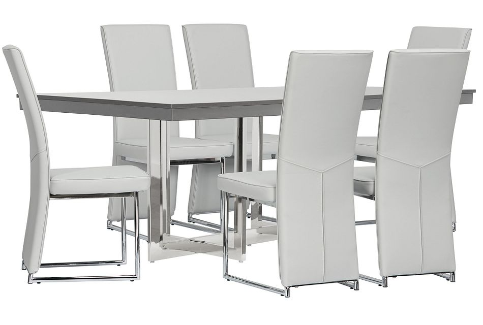 Cortina Gray Table & 4 Chairs