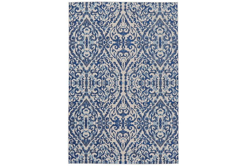 Milton Blue 5x8 Area Rug