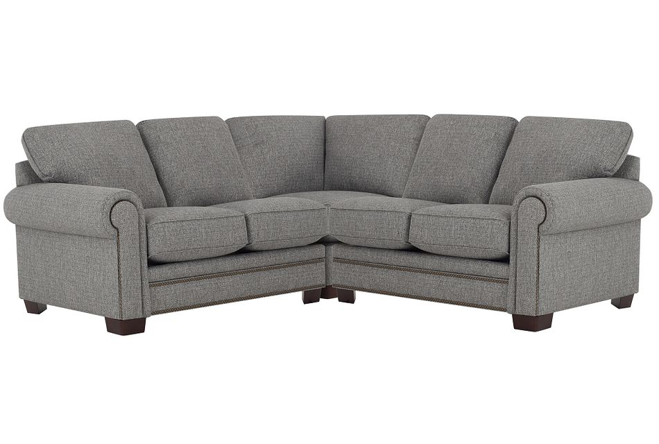 Foster Gray Fabric Small Two-arm Sectional