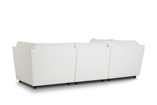 Hudson White Micro 5pc Bumper Sectional