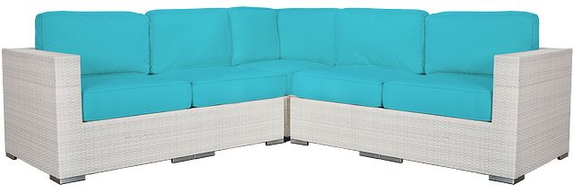 Biscayne Dark Teal Small Two-arm Sectional (0)