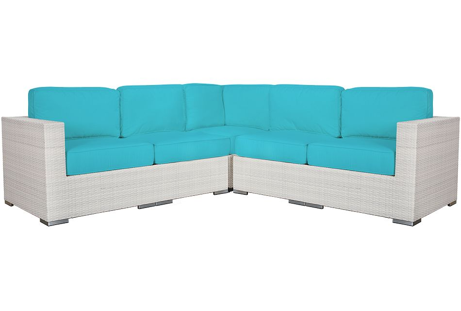 Biscayne Dark Teal Small Two-arm Sectional