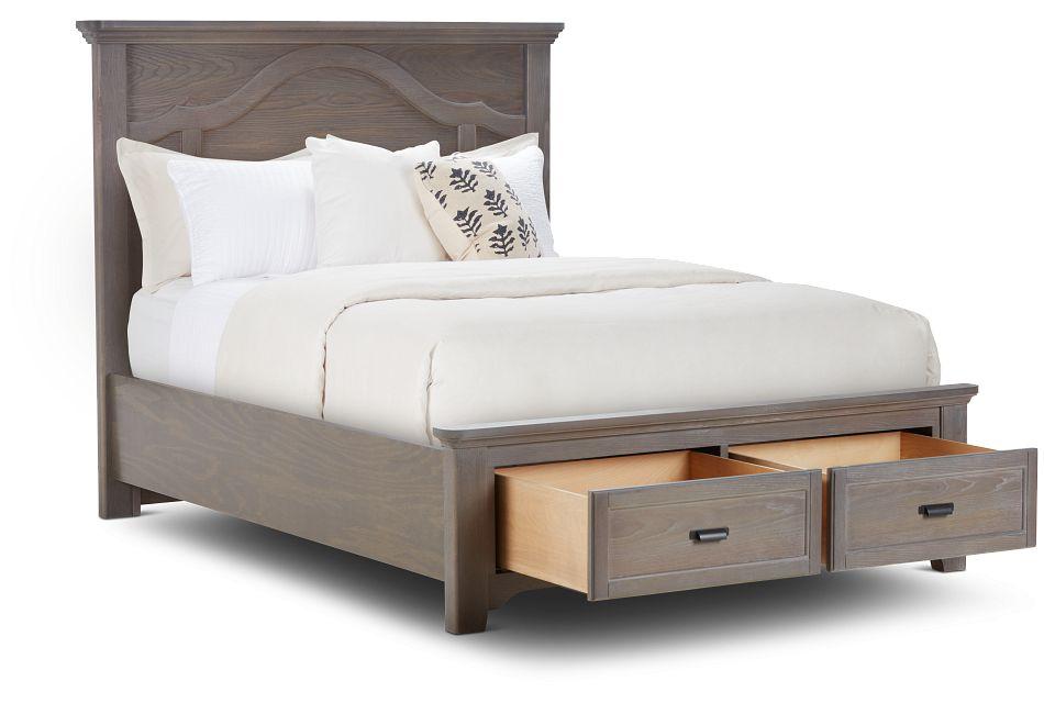 Bungalow Mid Tone Panel Storage Bed