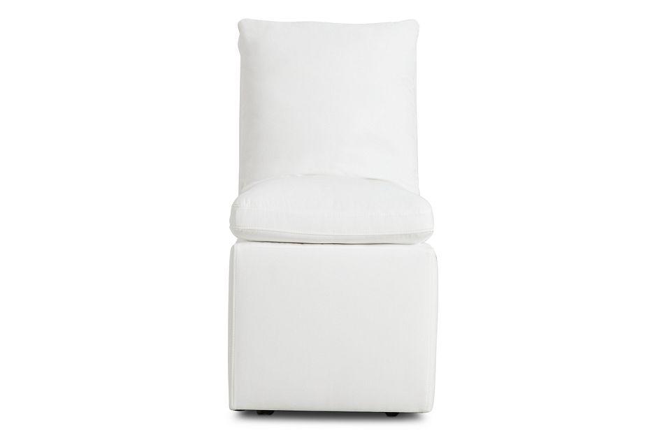 Auden White Castored Upholstered Side Chair