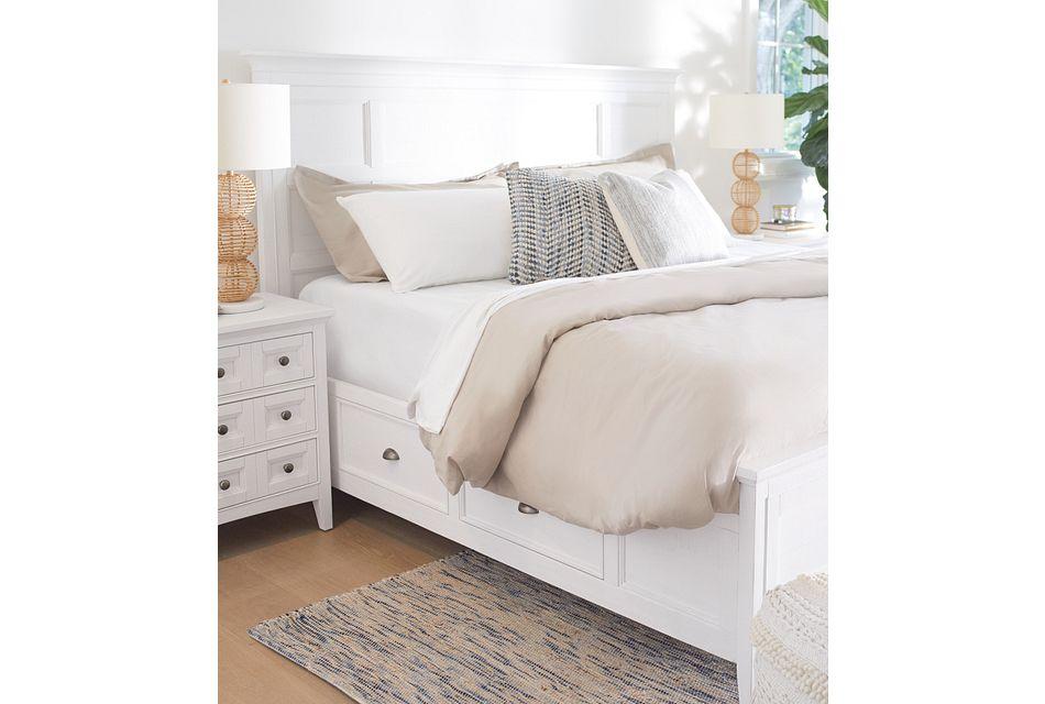 Heron Cove White Panel Storage Bed