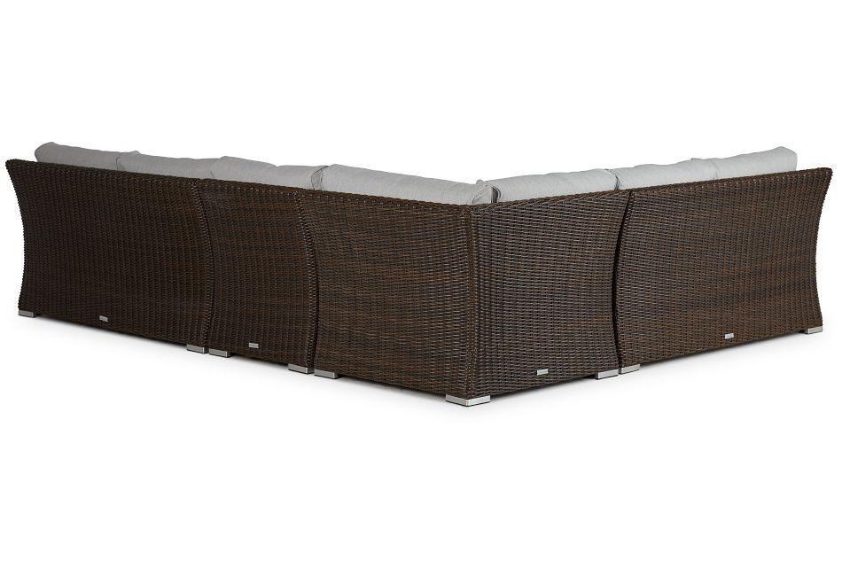 Southport Gray Woven Large Two-Arm Sectional,  (1)