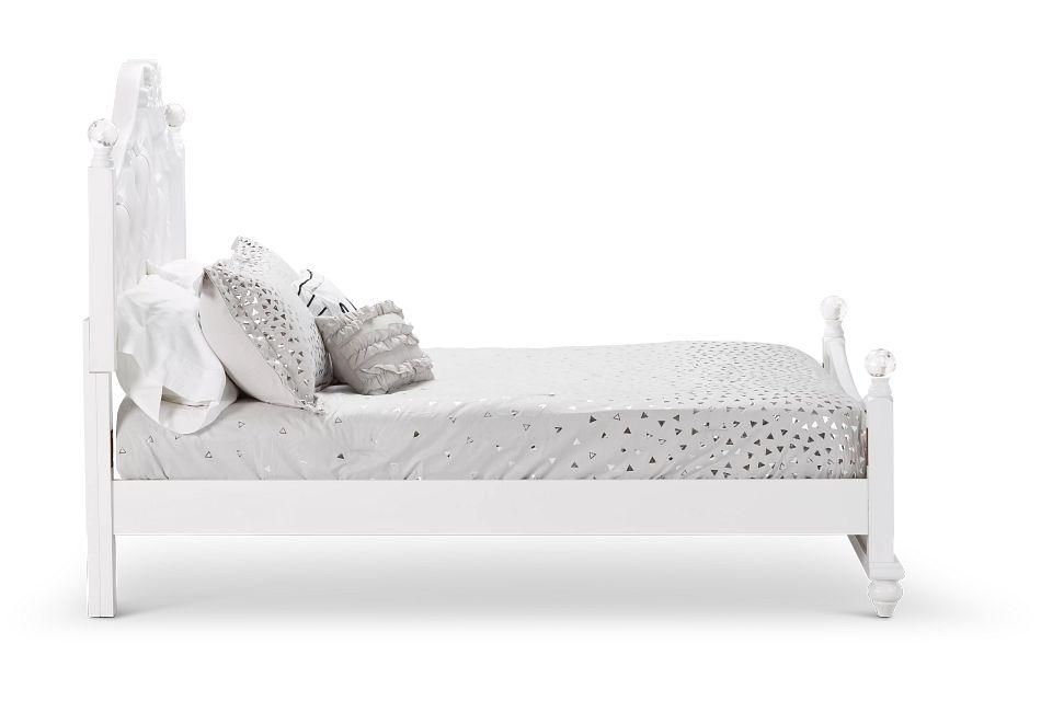Alana White Uph Poster Bed, Full (1)