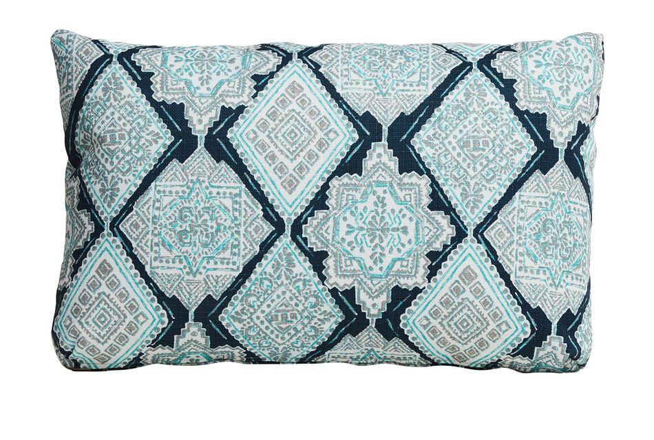 Milan Blue Lumbar Indoor/outdoor Accent Pillow