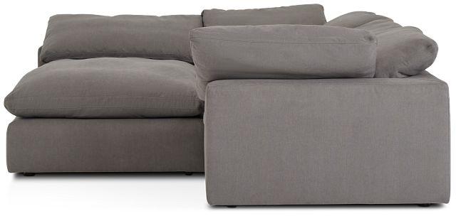 Nixon Light Gray Fabric 5pc Bumper Sectional (2)