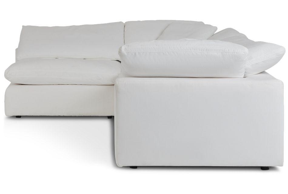 Nixon White Fabric 4-Piece Modular Sectional,  (3)