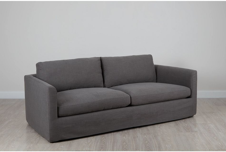 "Willow 89"" Gray Fabric Sofa"