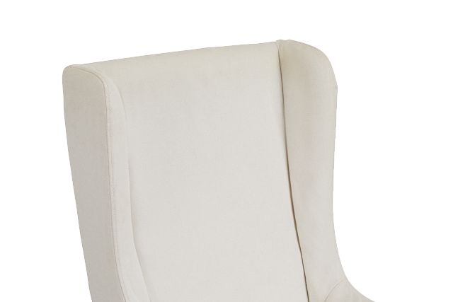 Savannah Beige Uph Skirted Arm Chair
