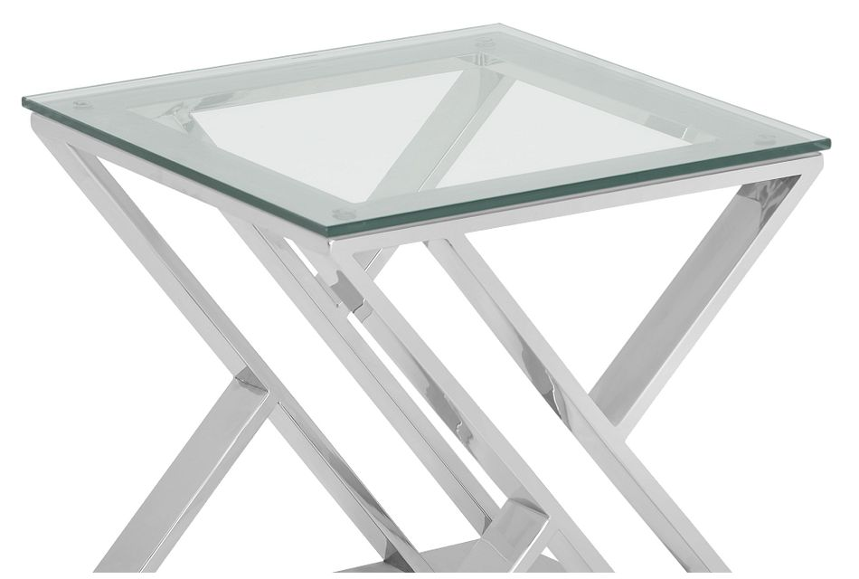 Jada Glass Square End Table