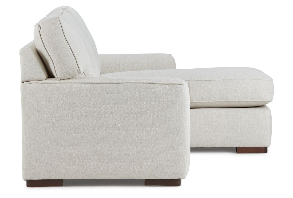 Austin White Fabric Right Chaise Sectional,  (3)