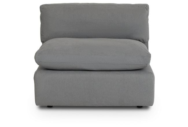 Grant Light Gray Fabric Armless Chair