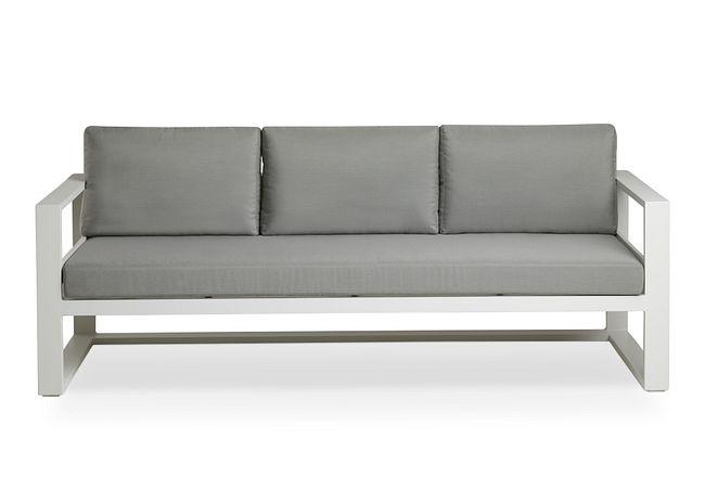 Lisbon Gray Aluminum Sofa