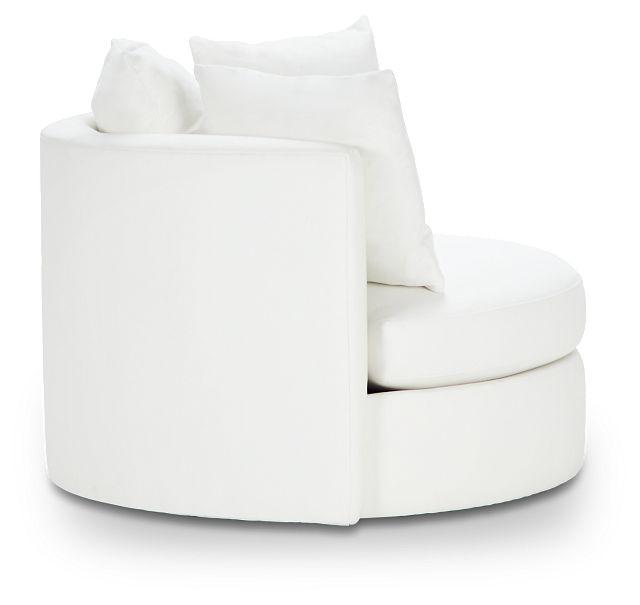 Merrick White Fabric Swivel Chair (2)