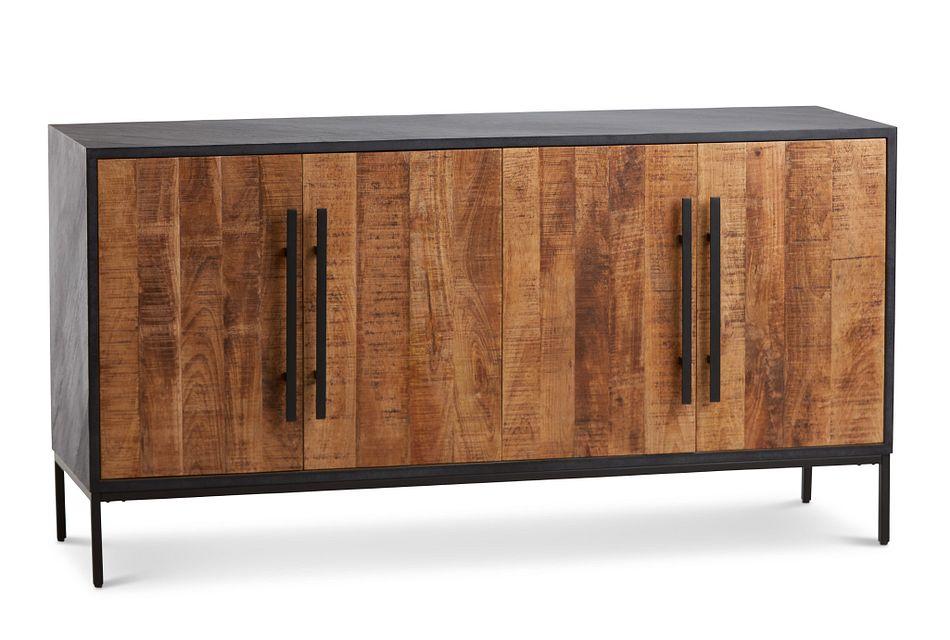 Dax BLACK WOOD Four-Door Cabinet,  (2)