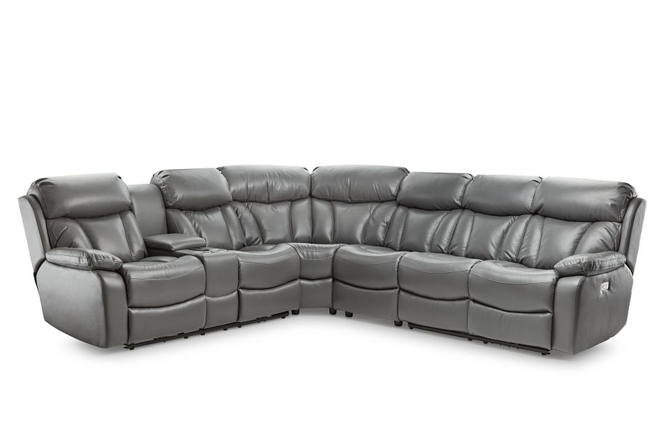 Dustin Gray Micro Large Left Console Love Reclining Sectional