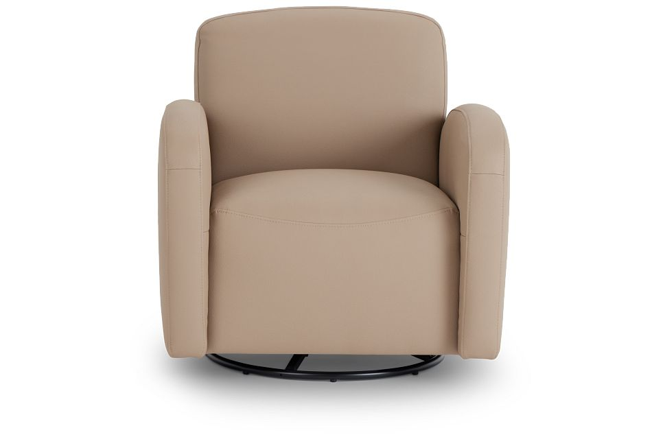 Axis Light Taupe Vinyl Swivel Accent Chair,  (3)