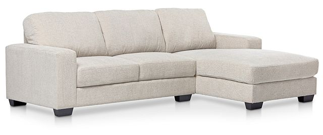 Estelle Beige Fabric Right Chaise Sectional (0)