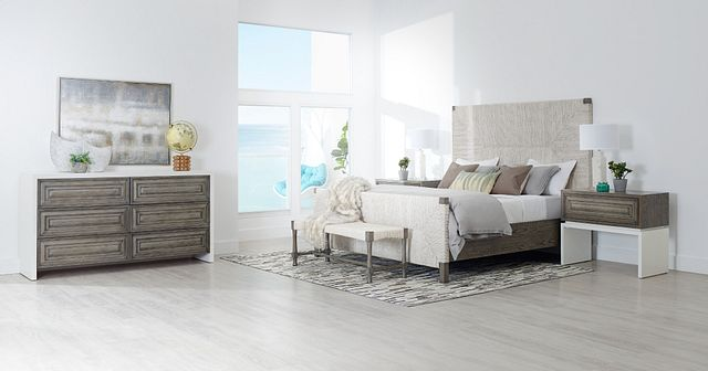 Palma Light Tone Woven Panel Bed (2)