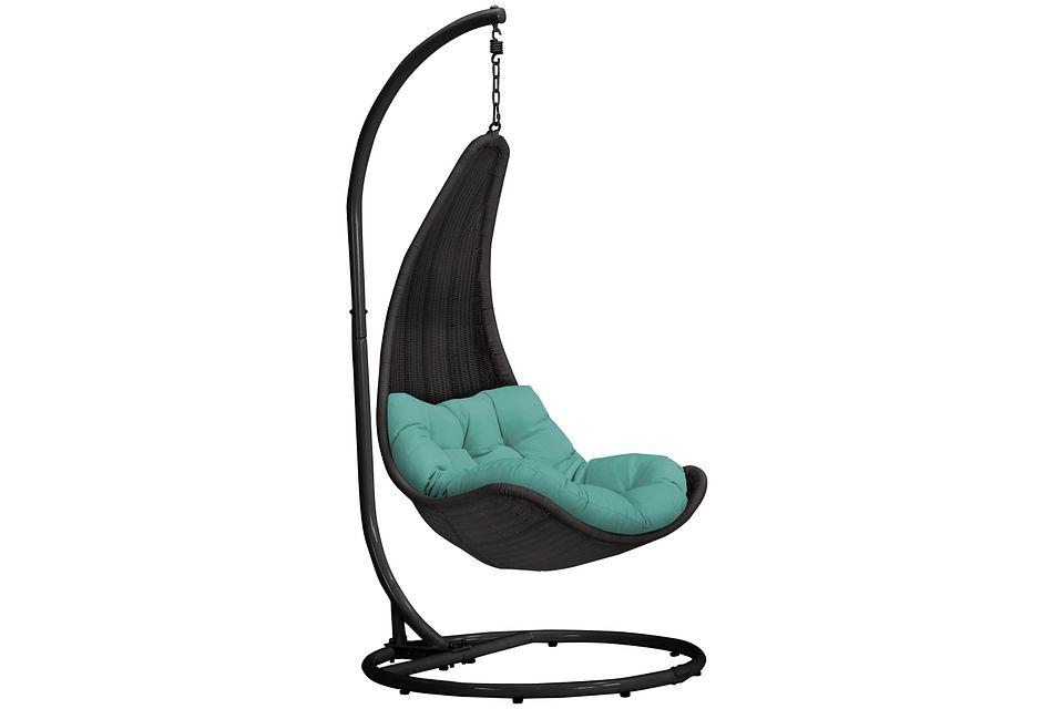 Zen Dark Teal   Hanging Chair,  (0)
