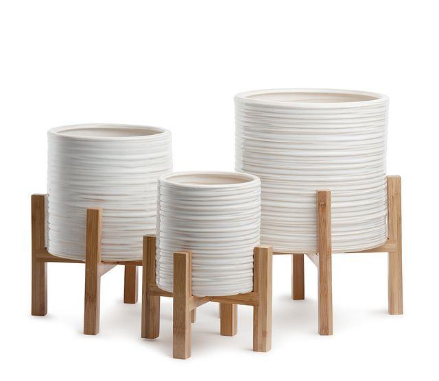 Jules Ceramic Set Of 3 Planter (0)