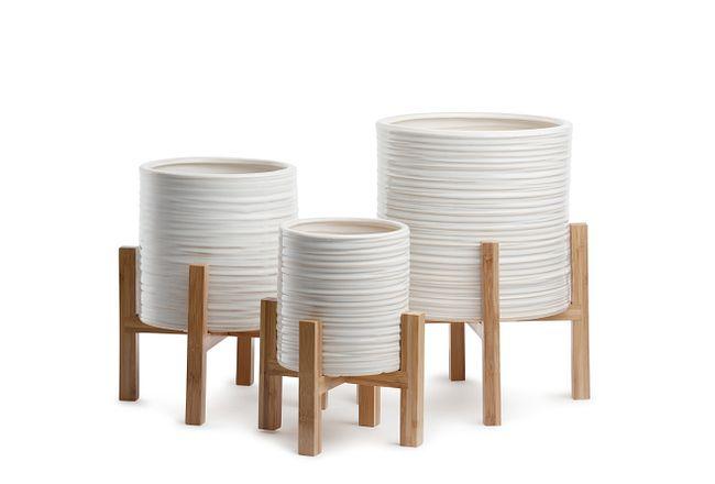 Jules Ceramic Set Of 3 Planter