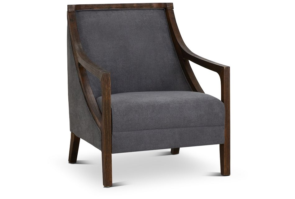 Hopkins Gray Fabric Accent Chair,  (1)
