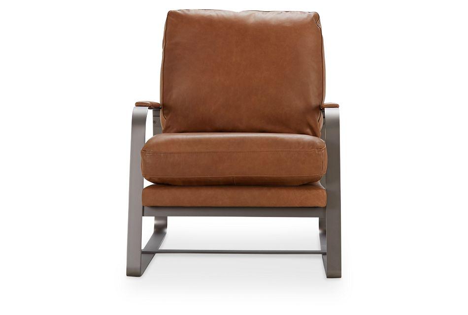 Lex Brown Lthr/vinyl Accent Chair, %%bed_Size%% (3)