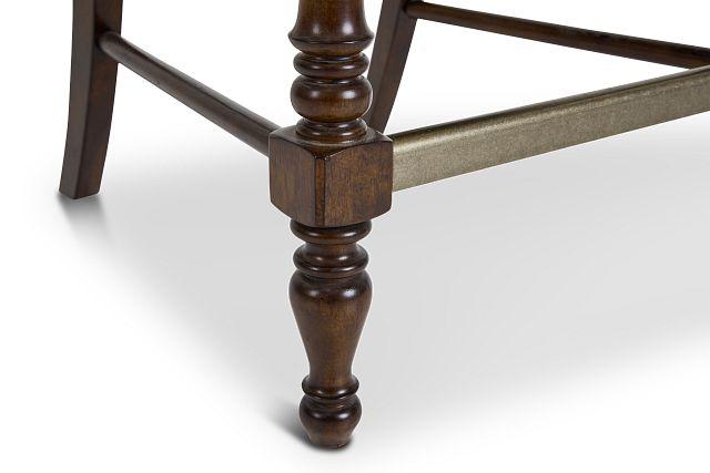 "Savannah Dark Tone 24"" Wood Barstool"