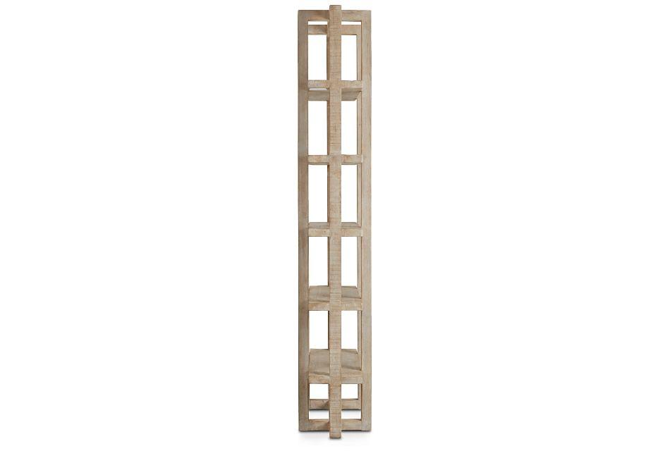 Hancock Light Tone Wood Bookcase,  (3)