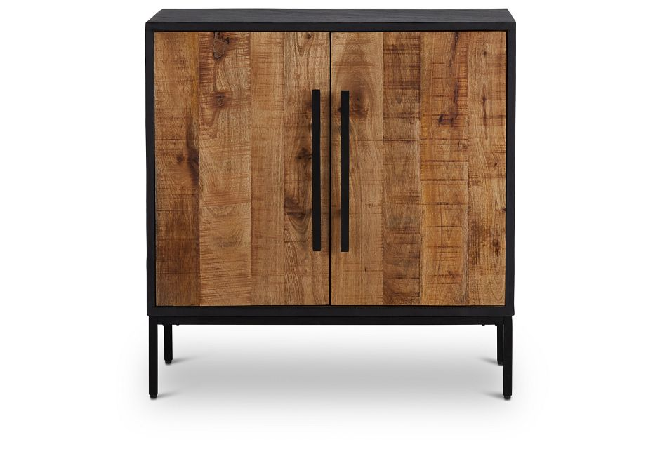 Dax Black Wood Two-door Cabinet