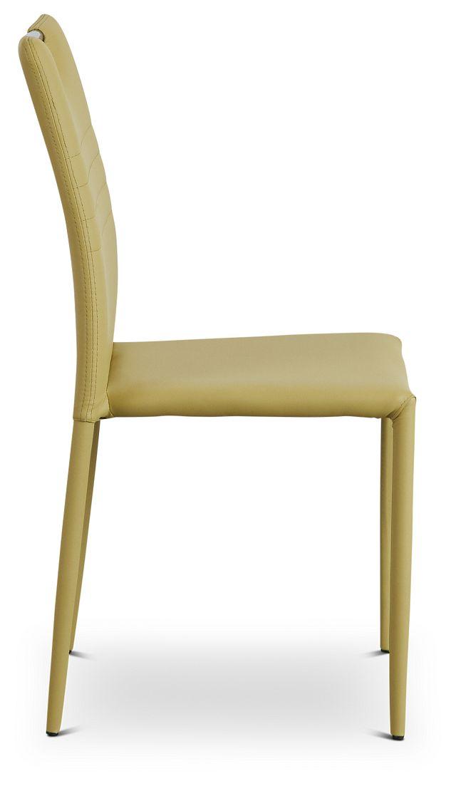 Skyline Light Green Upholstered Side Chair (2)