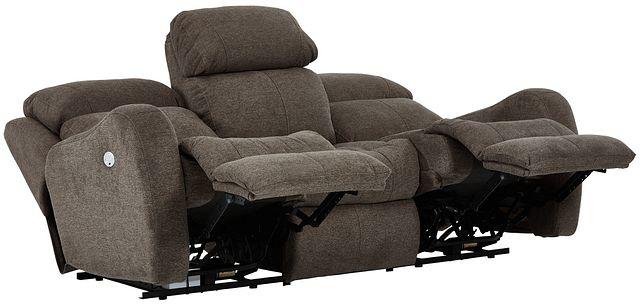 Finn Brown Fabric Power Reclining Sofa (2)