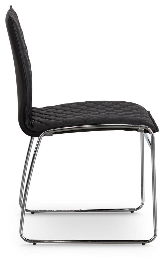 Skyline Black Metal Side Chair (2)