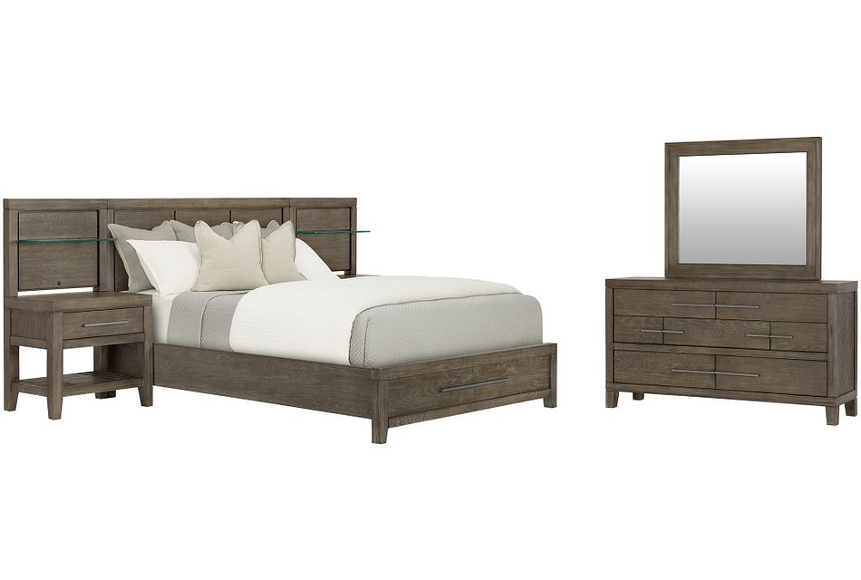Bravo Dark Tone Wood Spread Storage Bedroom