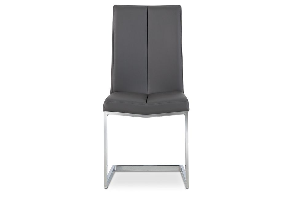London Gray Upholstered Side Chair