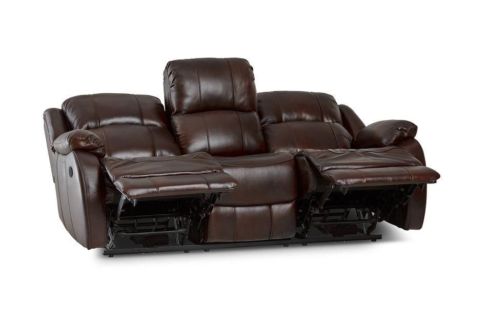 Dalton Medium Brown Lthr/vinyl Reclining Sofa