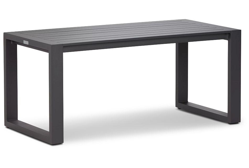 Linear Dark Gray Aluminum Coffee Table