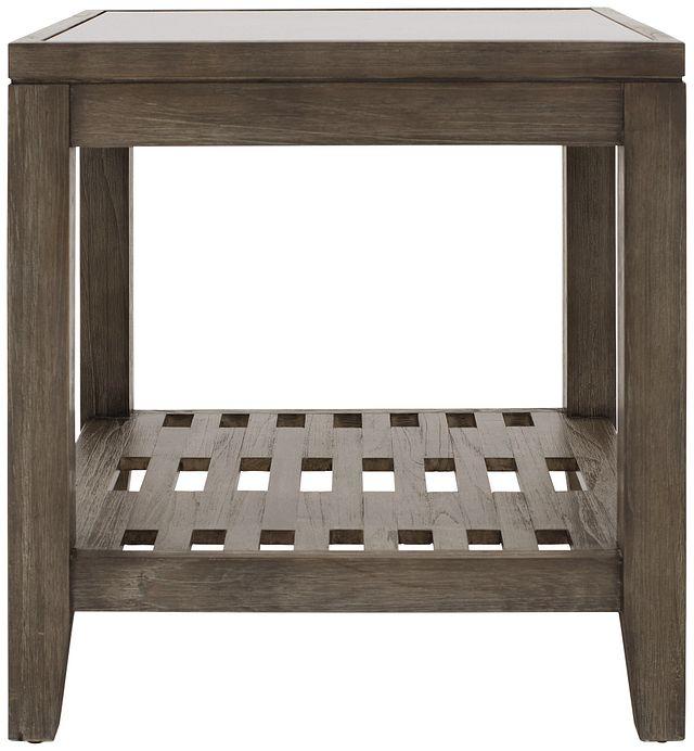 Bravo Dark Tone Square End Table (0)