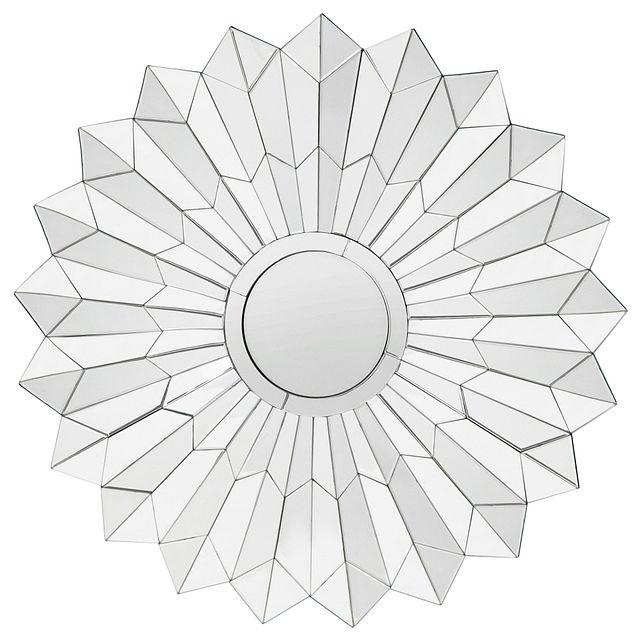 Daisy Silver Mirror